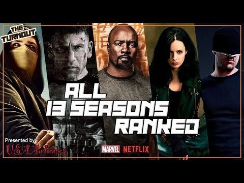 Marvel Netflix Seasons Ranked (All 13), Daredevil, Jessica Jones, Luke Cage, Iron Fist, The Punisher