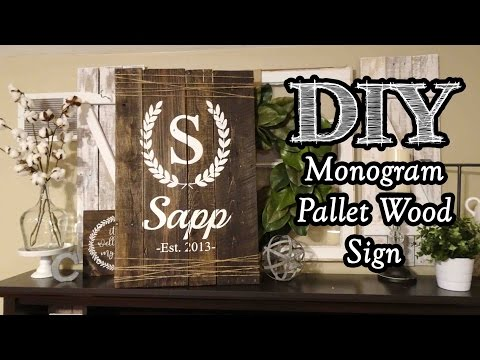 Monogram Pallet Wood Sign
