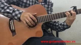 Guitar Acoustic Gỗ Hồng Đào Kỹ Màu Nâu