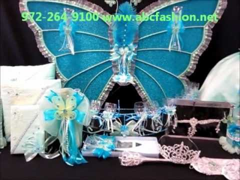 $1195 Quinceanera Centerpieces: Butterfly with Mint and ...