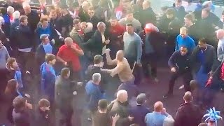 Arsenal vs Man City Fans FIGHTING Outside WEMBLEY STADIUM!! | Football Fights