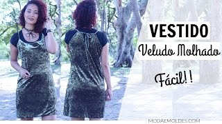 DIY VESTIDO VELUDO MOLHADO – VELVET DRESS