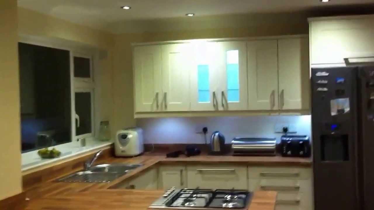Kitchen LED lighting refit - YouTube