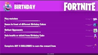 FORTNITE 2ND BIRTHDAY EVENT COMING SOON FORTNITE NEW OVERTIME CHALLENGES LEAKED AND BIRTHDAY LEAKS!