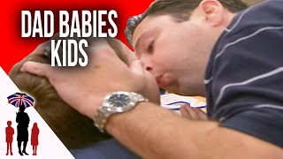 Dad Babies Sons By Doing Everything For Them, Including Wiping Their Bottoms | Supernanny