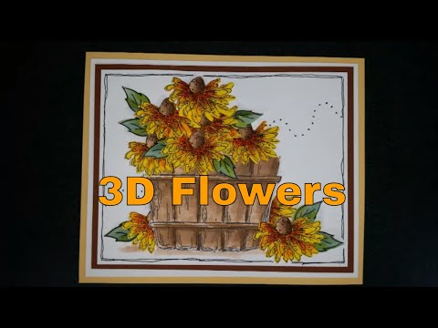 #058 Creating 3D Flowers Using Die Cuts