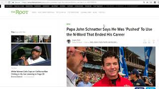 Papa John Schnatter uses N Word in conference call and i could care less  Here is why