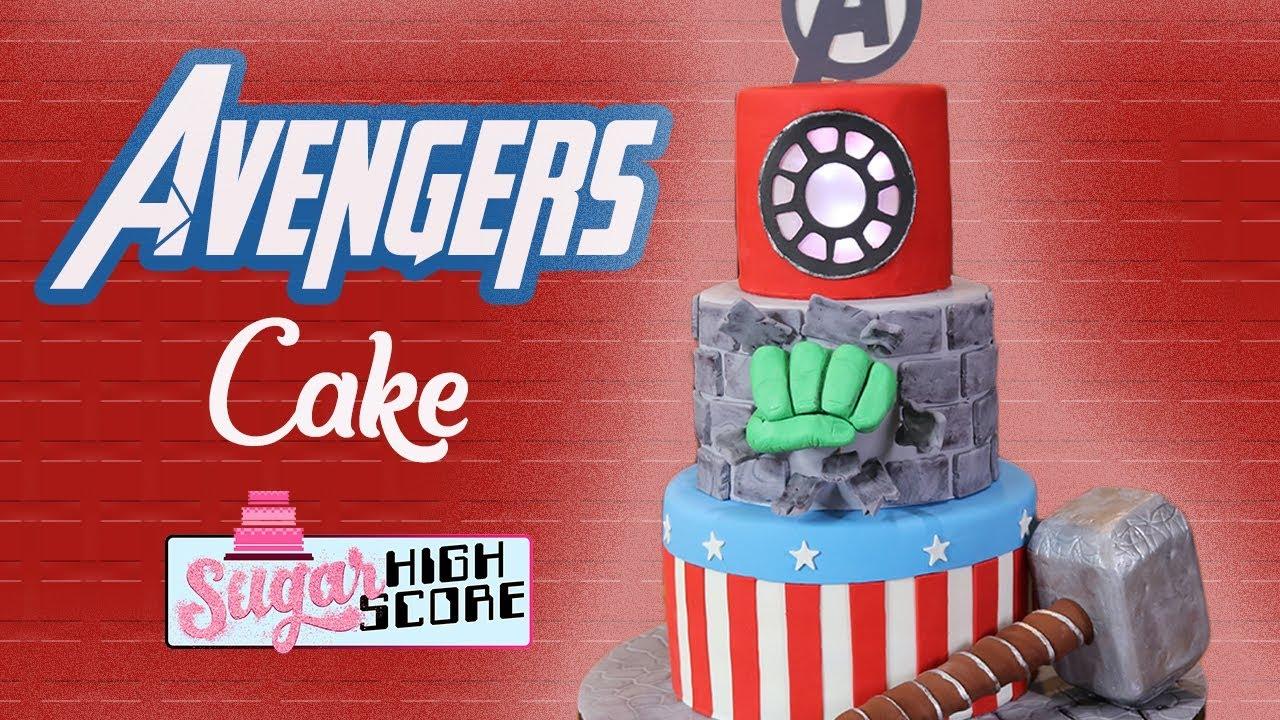 How to make an AVENGERS CAKE SUPERHERO CAKE Captain America
