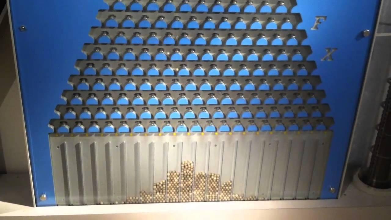Plinko Machine at the Math Museum NYC - YouTube
