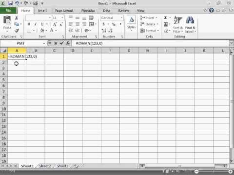 Convert Arabic to Roman Numerals - Excel 2010 - YouTube