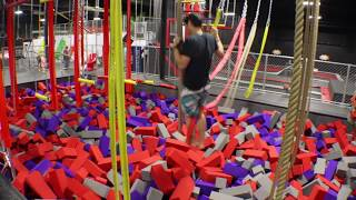 Obstacle course at Superfly Extreme Air Sports, Chattanooga, Tennes...