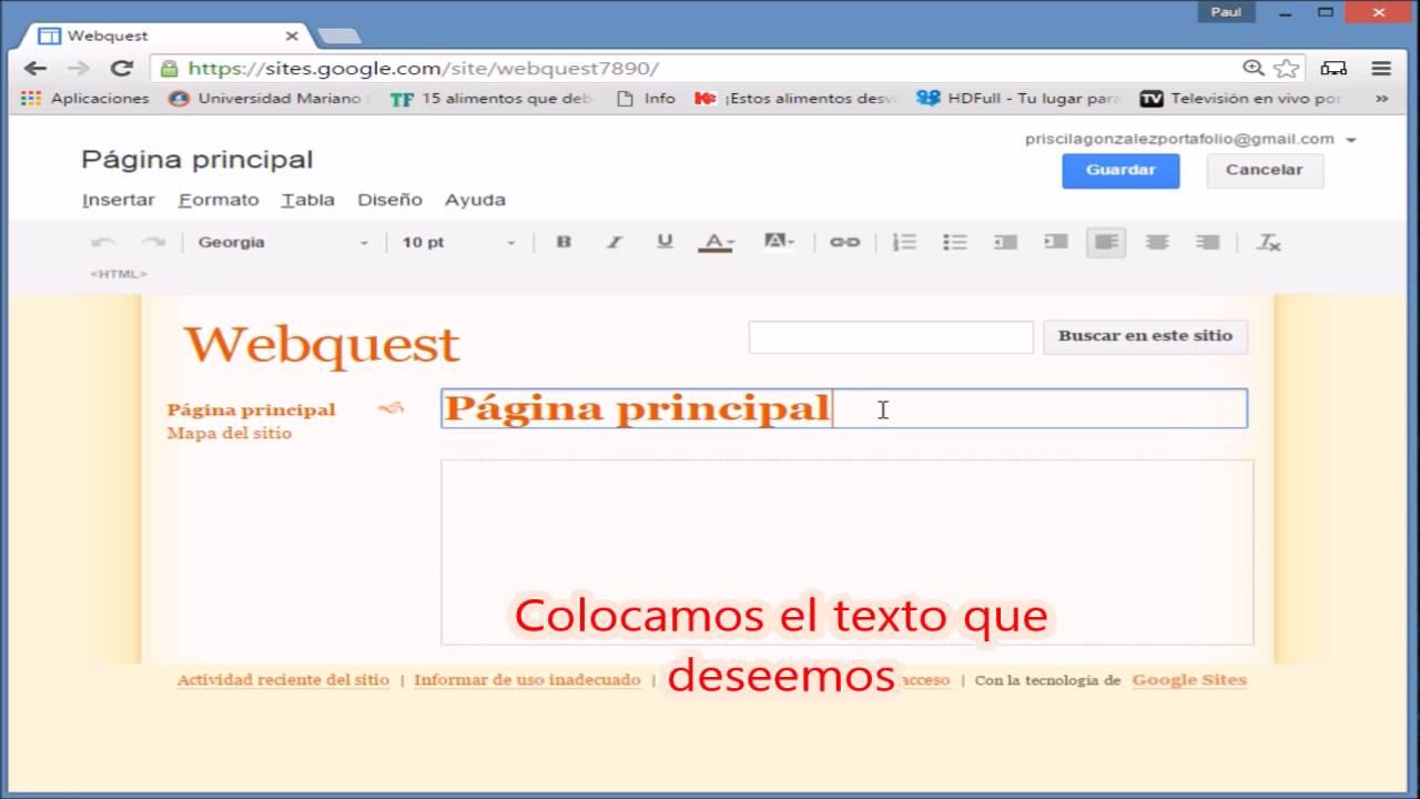 Tutorial De Como Crear Un Webquest En Google Sites Youtube