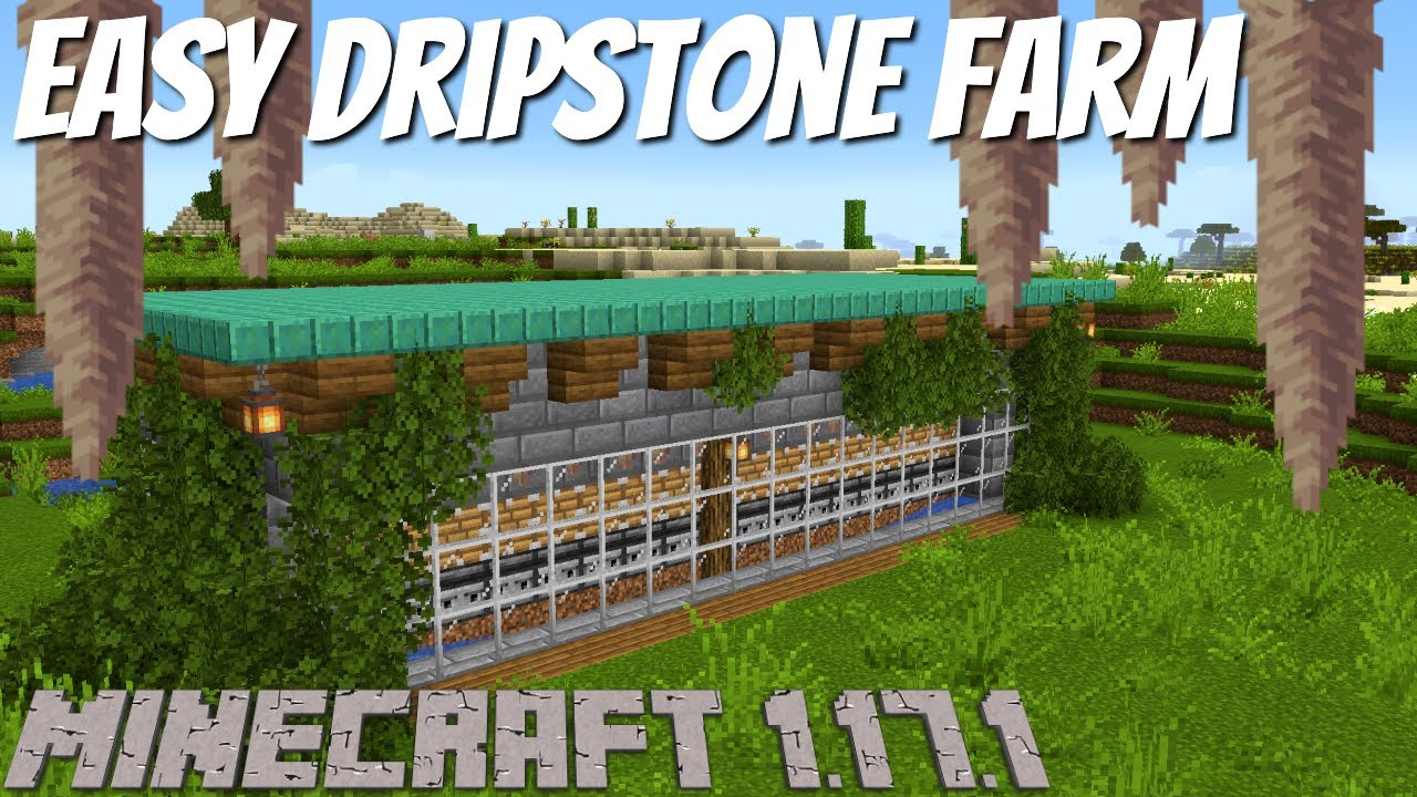 Minecraft Survival Dripstone Farm   AFK Minecraft Dripstone Farm for Bedrock a+ Java Minecraft 1.17+