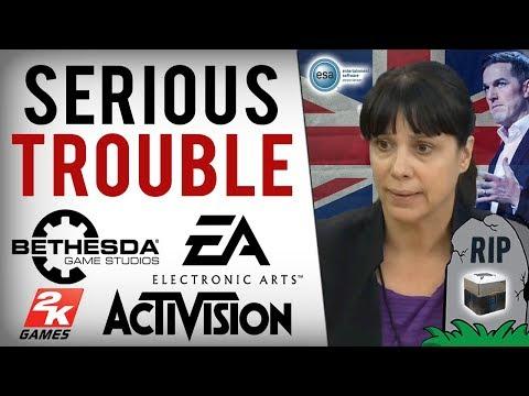 EA, Bethesda & Activision's Big Crisis! UK Govt. SLAM Loot Boxes & Want Them Banned! (ESA Not Happy)