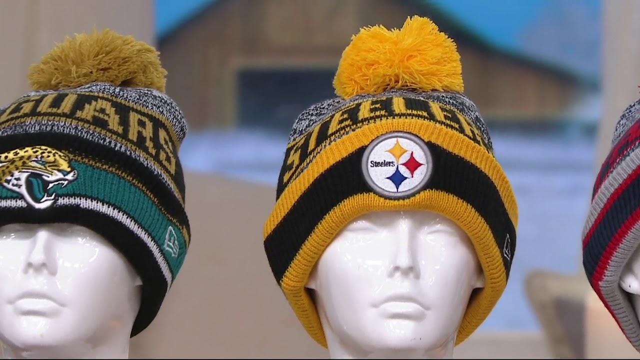 5ac95a3c26b NFL Cuff Knit Hat with Pom by New Era on QVC - YouTube