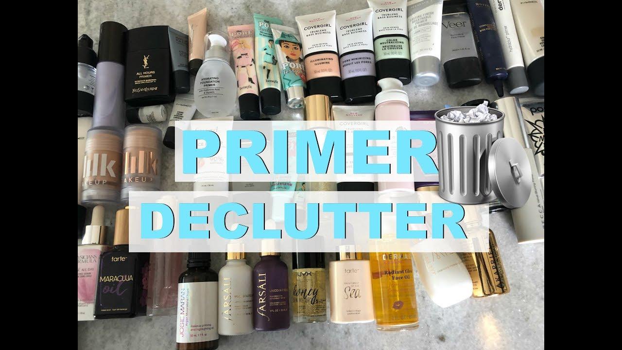 Decluttering 50 Primers Makeup Primer Collection Declutter Makeupmolly