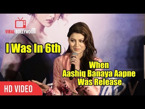 Urvashi Rautela : I Was In 6th Standard When Aashiq Banaya Aapne Song Was Released
