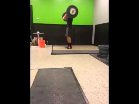 Crossfit Knoxville Barbell Club 90kg Clean And Jerk (miss)