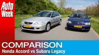 Occasion dubbeltest - Subaru Legacy vs Honda Accord
