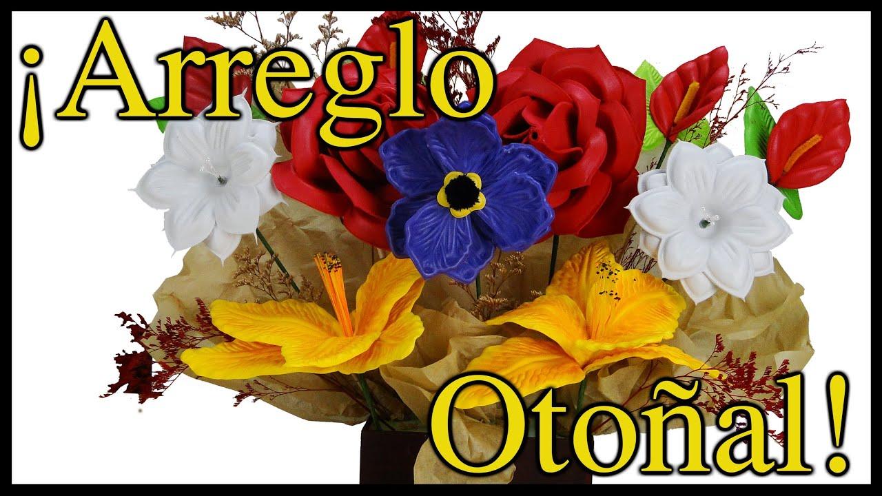 Arreglo Floral Para Centro De Mesa Hecho De Foami