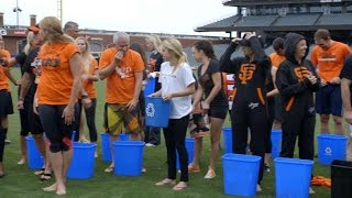 Giants front office takes the Ice Bucket Challenge