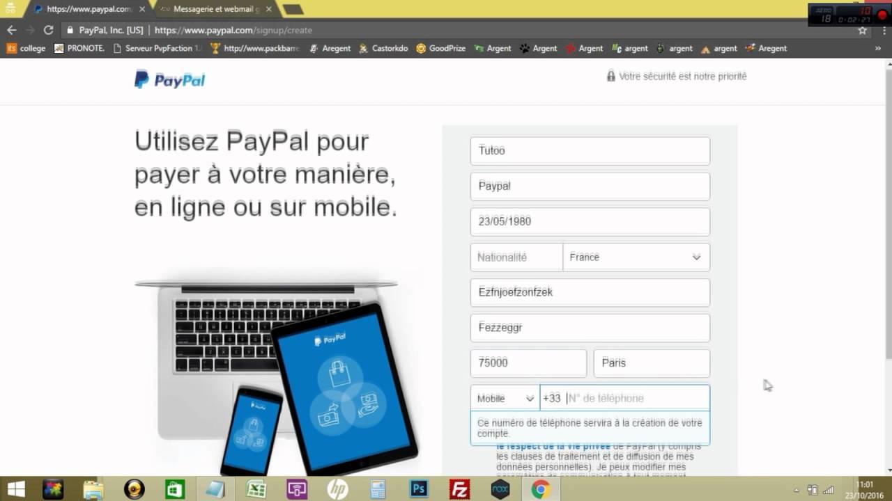 Les Tutos 6 Comment Creer Un Compte Paypal Sans Carte Bancaire 2016 Youtube