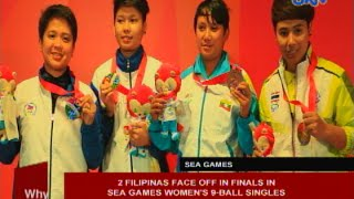 2 Filipinas Face Off In Finals In Sea Games Women's 9 Ball Singles