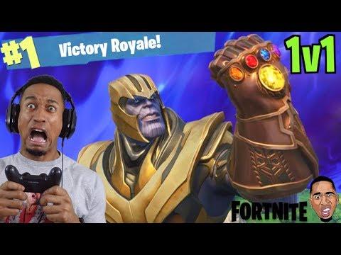 1v1 Vs Thanos Fortnite Battle Royale Youtube