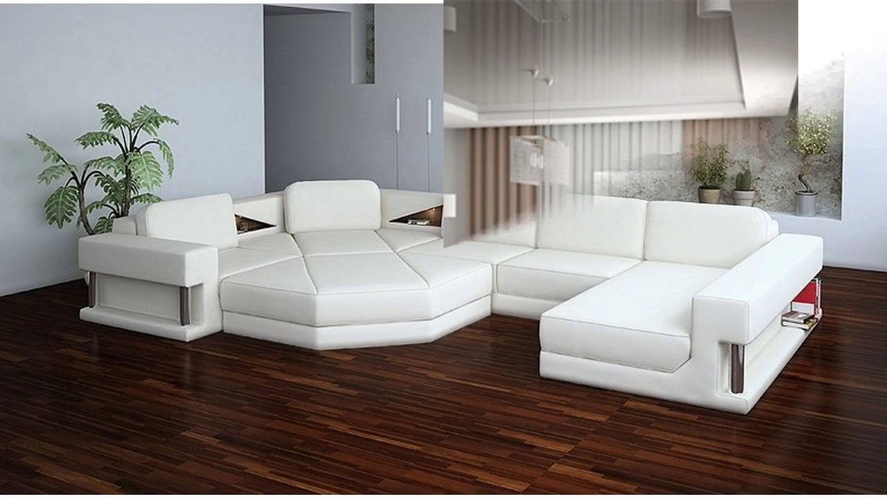Muebles modernos blancos youtube for Fotos de living modernos
