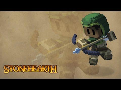 Обзор игры Stonehearth +Геймплей, Занимательной игры в кубическом стиле.