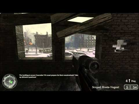 "Call Of Duty 2- Mission 7: Comrade Sniper ""Veteran Mode"""