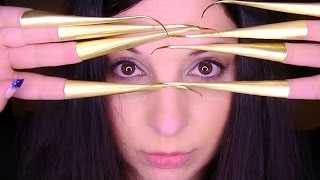 ASMR Binaural Tingle Blitz: Thai Bellydance Gold Brass Finger Nail Claws