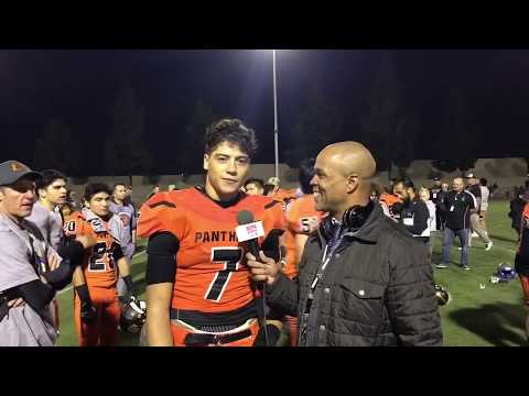 CIF SS D13 CHAMPIONS ORANGE PANTHERS; INTERVIEW WITH QB JASON WILKINSON