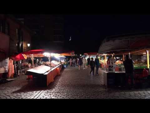 Nicht schlafen, sondern zum Fischmarkt gehen-Hamburg Sept.2016-Da geht die Post ab