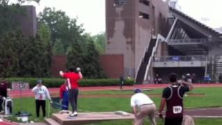 Final collegiate throw (Dan Withrow - Boston University)
