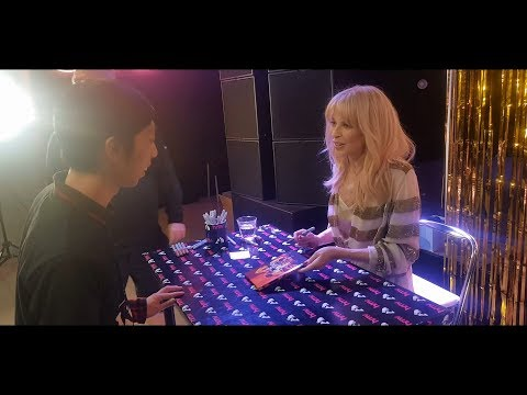 Kylie Golden Album Launch Signing at HMV Live 363 Oxford Street London UK on 06/04/2018