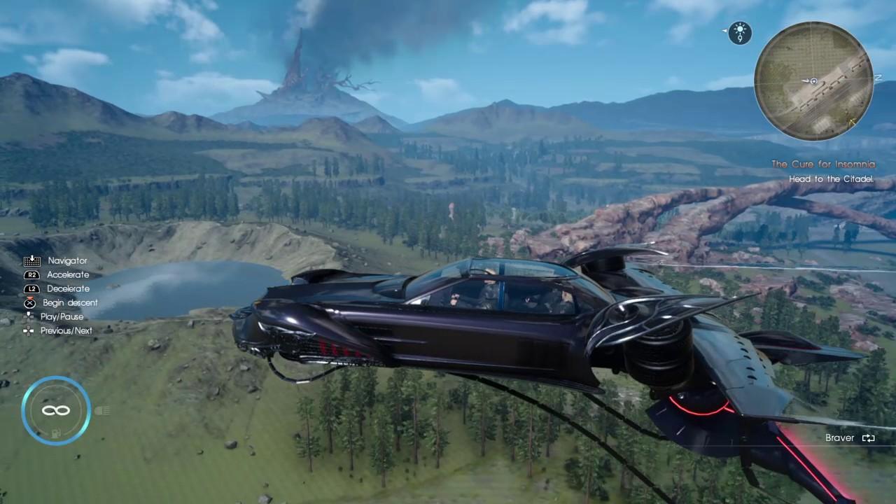 Final Fantasy Xv Airship Aircar Gameplay Youtube