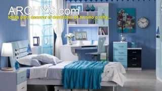 Ideas y consejos para dormitorios juveniles, para chicos, chicas y adolescentes.