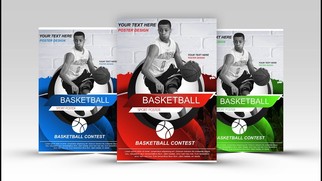 create a basketball sports poster with adobe illustrator
