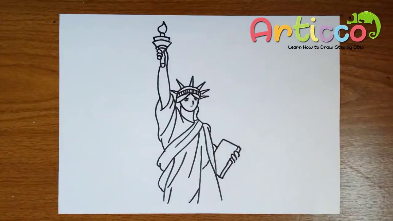 How to Draw the Statue of Liberty Step by Step - YouTube