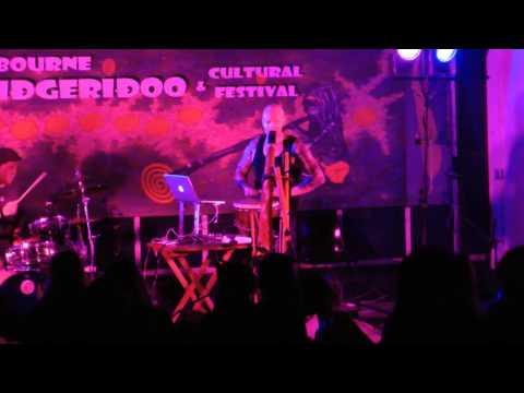 Ganga Giri at 2013 Melbourne Didgeridoo Festival
