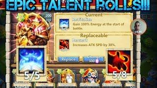 I Castle Clash: Most Epic 13k Gem Talent Rolls Ever!!!