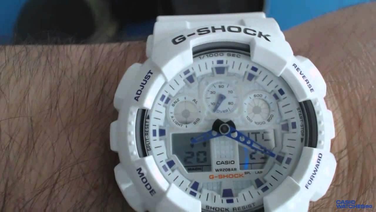 Casio G Shock GA 100A 7A