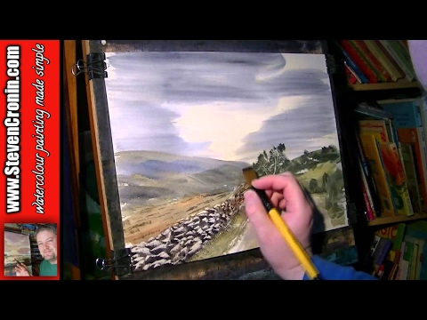 Near Two Bridges, Dartmoor Part 2 of 2 Watercolour Landscape Painting Demonstration