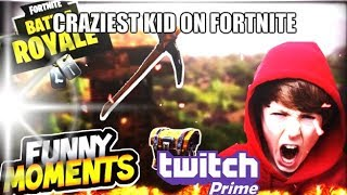 THE CRAZIEST KID EVER ON FORTNITE!!(#1 FUNNY MOMENT)