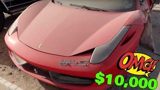 Dubai Copart online Auction where they take abandoned Cars GTR, Ferrari, Lamborghini