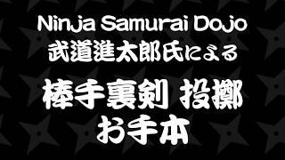 Ninja Samurai Dojo 武道進太郎氏による「棒手裏剣」投擲のお手本 / STARTT.jp