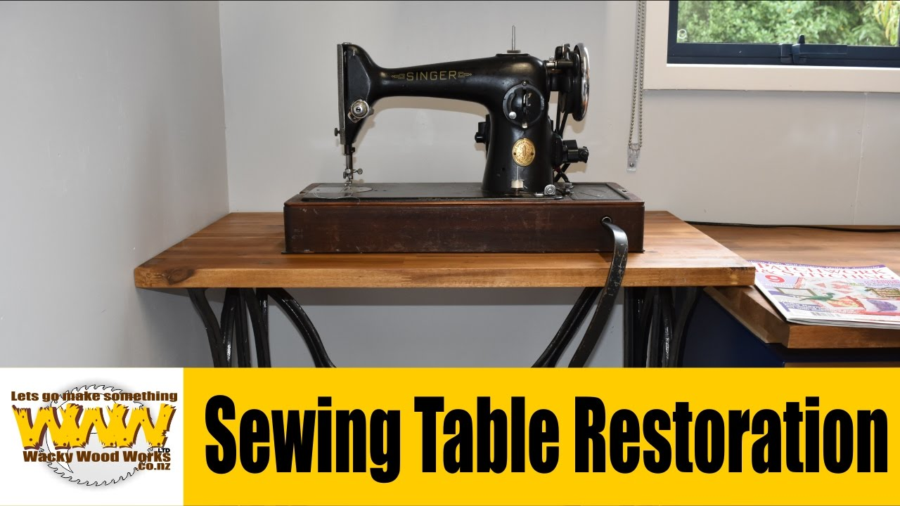 Exceptionnel 70 Year Old Singer Sewing Table Restoration   Off The Cuff   Wacky Wood  Works.