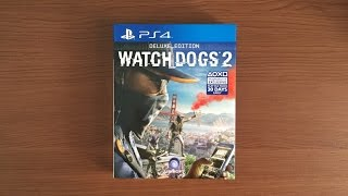 "[ UNBOXING ] WATCH DOGS 2 "" DELUXE EDITION "" ( PS4 )"