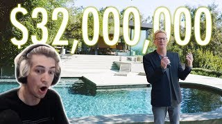 xQc Reacts Inside a $32 Million Upside Down House with 130 Ancient Oak Trees | Architectural Digest